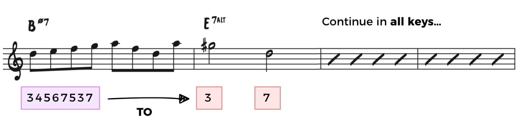 Half Diminshed to the Altered Chord