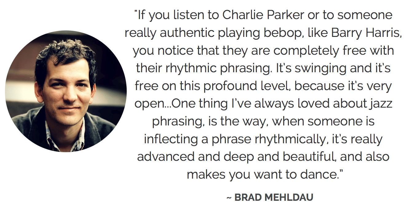 Brad Mehldau on Jazz Phrasing