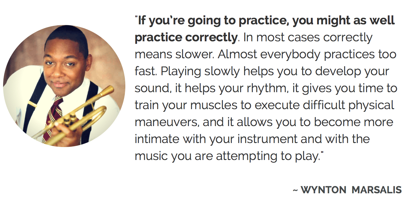 Wynton Marsalis on practice