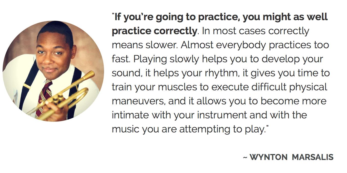Wynton Marsalis on practice