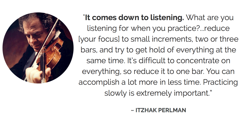 Itzhak Perlman on practice