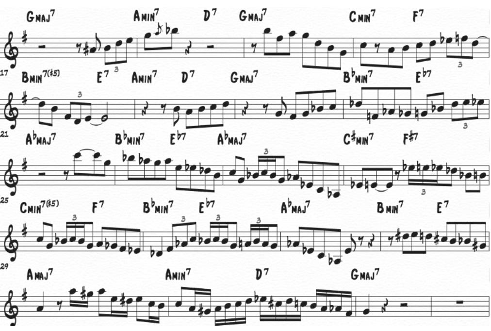 singing the blues noten altsaxophon