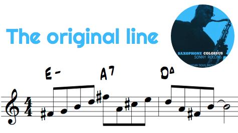 Sonny Rollins Transcribed Line