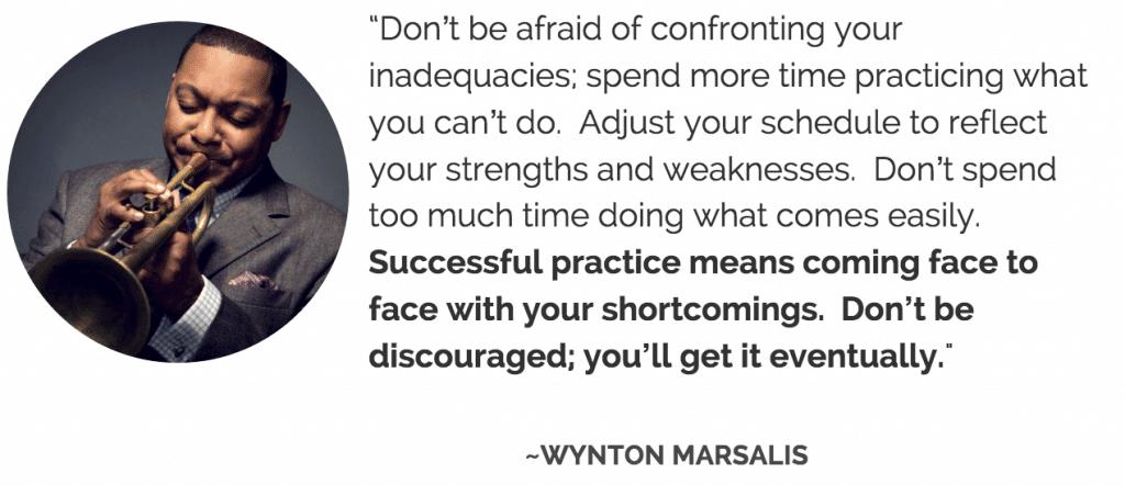 Wynton Marsalis practice
