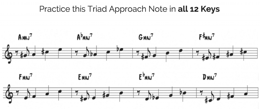 Approach notes in all 12 keys