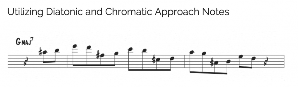 Diatonic and chromatic approach notes