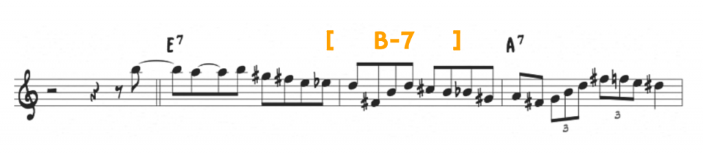 ii-7 over v7
