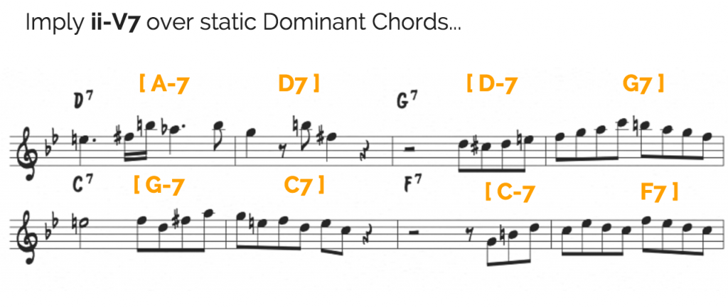 ii-V7 over static Dominants