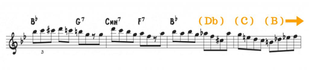 Tritone half-step movement