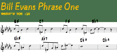 Bill Evans Phrase 1