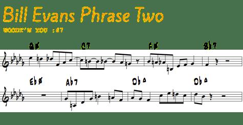 Bill Evans Phrase 2