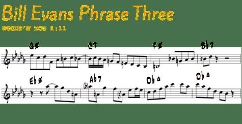 Bill Evans Phrase 3