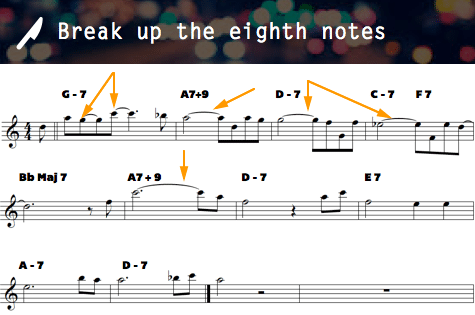 Break up eighth notes