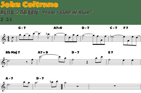 Coltrane Blue In Green Transcription