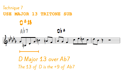 Major 13 tritone sub