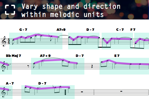 Vary shape and direction melodic units