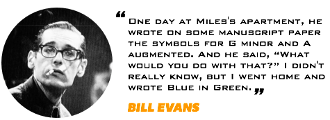 Bill Evans Quote Blue In Green