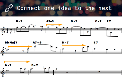 connect one idea to the next