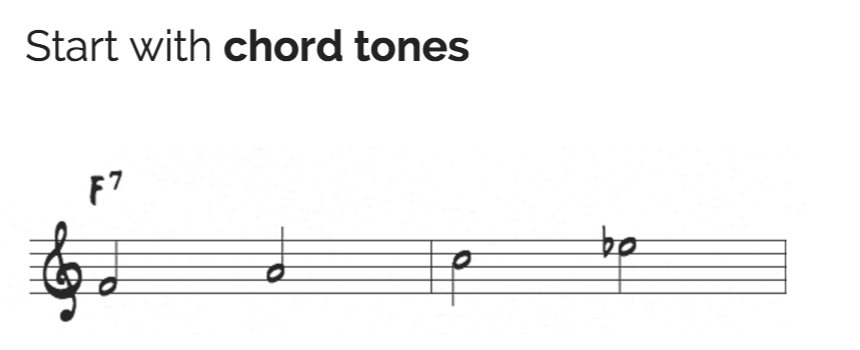 Start with chord tones