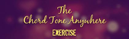 chord tone anywhere exercise