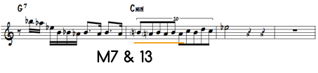 M7 and 13 on Minor Chord