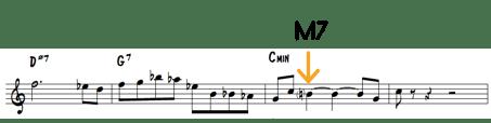 M7 on Minor Chord