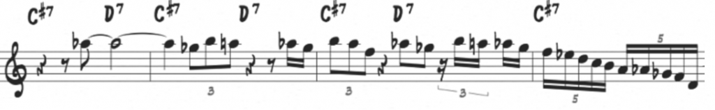 Coltrane Epistrophy diminished line