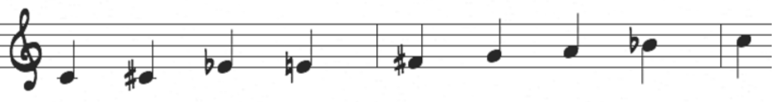 Half-whole diminished scale