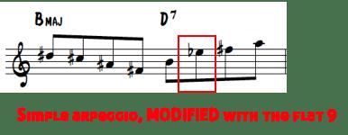 Brecker lines 2 - arpeggio with b9