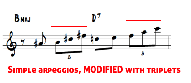 Brecker lines 3 - adding triplets