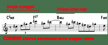 Brecker lines 8 - combine arpeggios with leaps