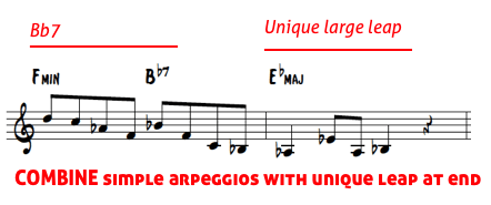 Brecker lines 9 - combine arpeggios with leap at end