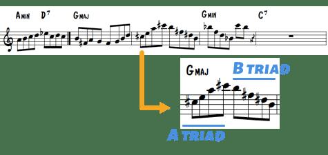 Kenny Garret line 3 triad pairs