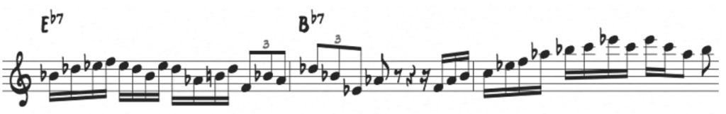 Minor pentatonic from the 5th