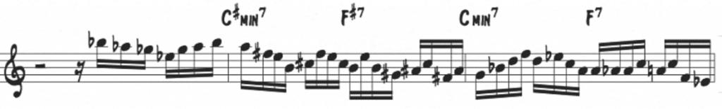 Pentatonic motion over ii-V's