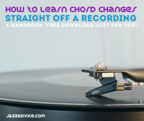 Learn chord changes from a recording