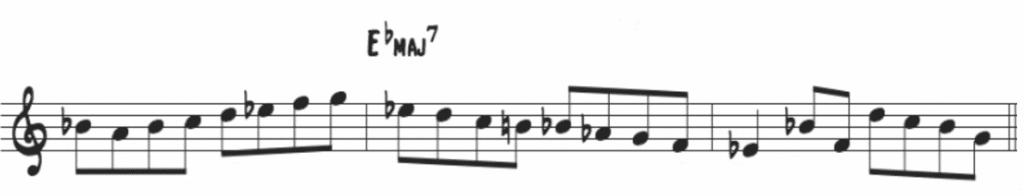 Coltrane Major Bebop Scale