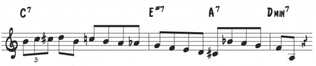 Charlie Parker Major Bebop Scale