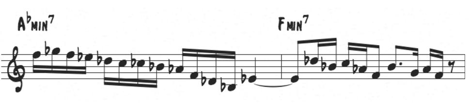 Freddie Hubbard bebop scale