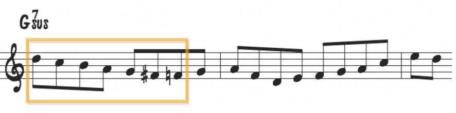 Bebop scales over sus chords