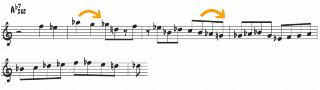 Freddie Hubbard bebop scale over sus chord