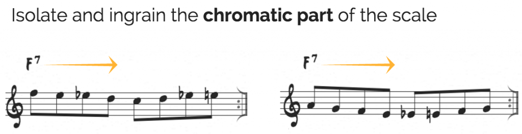 Practicing the bebop scale