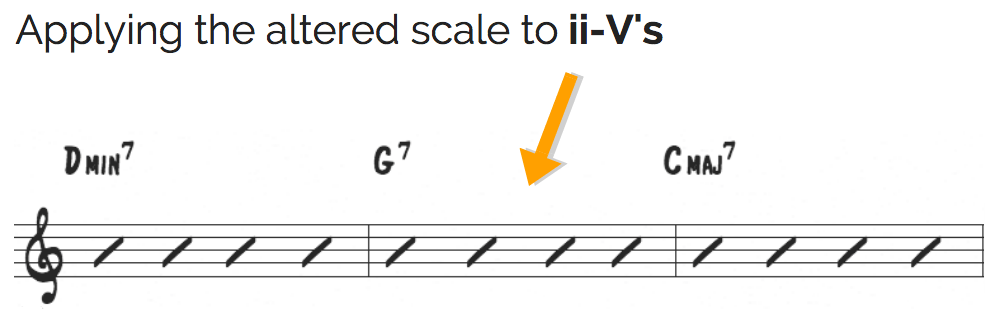 Altered scale on ii-V's