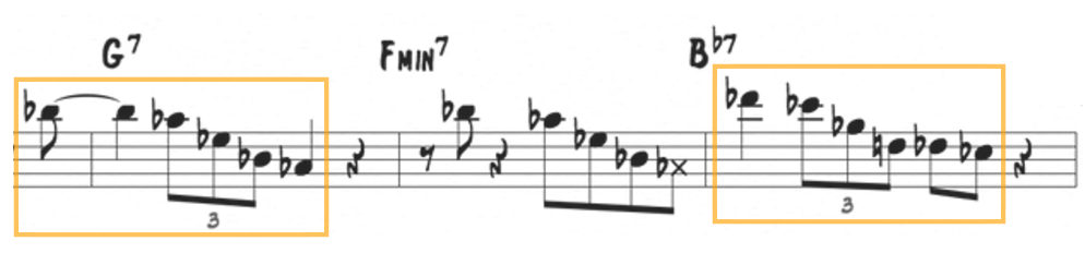 Dexter Gordon, altered V7 pattern