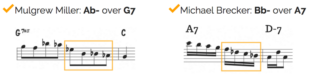b2 minor triad over V7