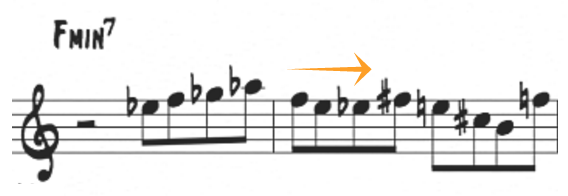 3 note chromatic pattern