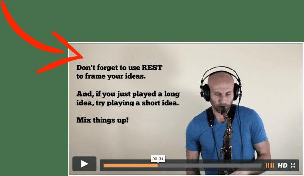 video helper text