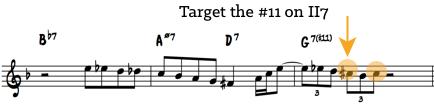 target #11 on II7