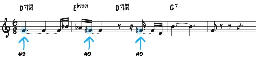 Altered chord tones
